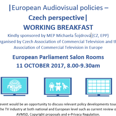 ACT and AKTV working breakfast with Czech Members of European Parliament