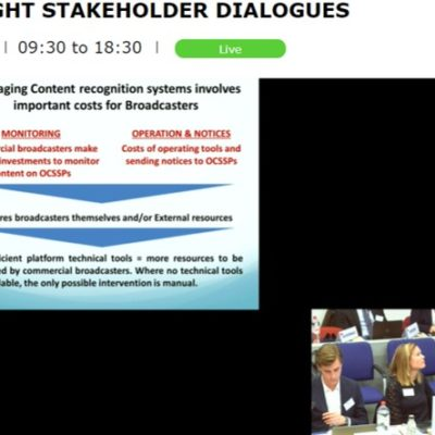 ACT took part in the 2nd Stakeholder Dialogue on the article 17 of the Copyright Directive