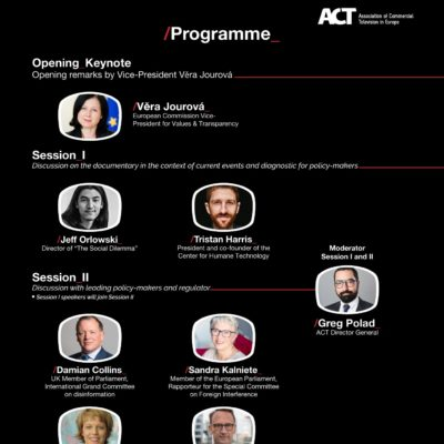 """ACT organises an online event on """"Tackling Disinformation – A conversation with 'The Social Dilemma' team and  leading media policymakers"""""""