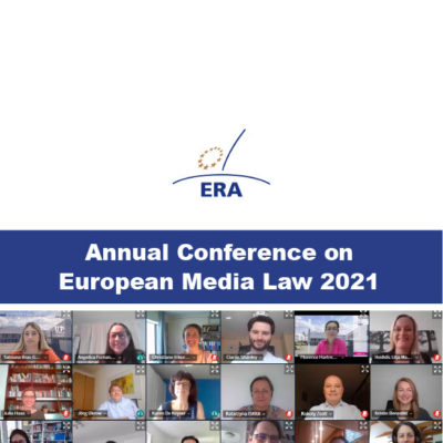 ACT speaks at the ERA- EMR Annual Conference on European Media Law 2021