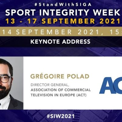 ACT speaks at the SIGA Sport Integrity Week